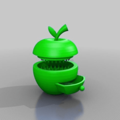 applegrinder3v.png Download free STL file apple grinder with herb-box • 3D printable design, syzguru11
