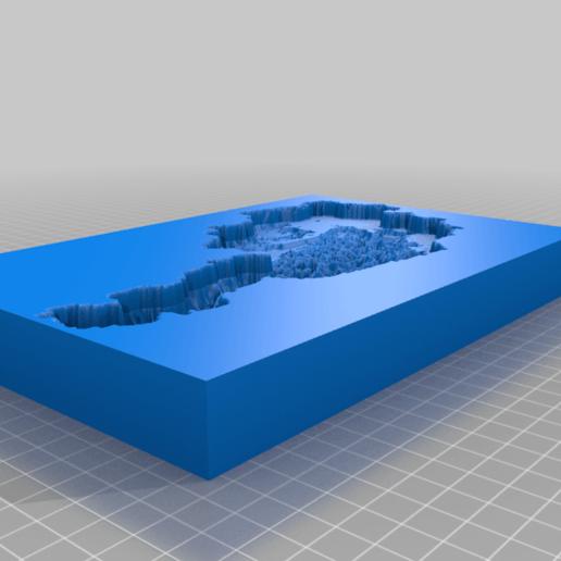 Download gratis 3D-afdruksjablonen Austria cookie latex gips, .. vorm met hoogtekaarten, syzguru11
