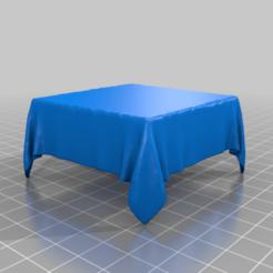 Descargar modelos 3D gratis mantel cuadrado sobre caja, syzguru11