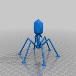 Download free STL files VIRUS Bacteriophage, syzguru11
