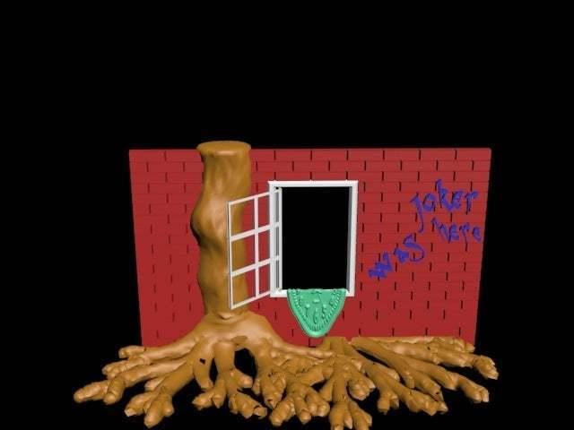 wall3.jpg Download free STL file Fenster - ansichten und einsichten mit wurzelwerk • 3D printer design, syzguru11