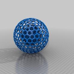Impresiones 3D gratis Spike Ball en bola de panal, syzguru11