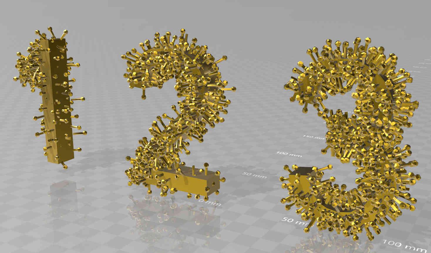 infected-numbers.jpg Télécharger fichier STL Nombre de personnes infectées • Design imprimable en 3D, syzguru11