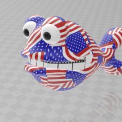 Télécharger fichier STL gratuit père américain poisson étoiles et rayures colorées, syzguru11