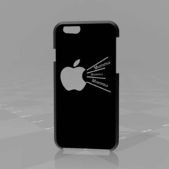 Download free 3D printing templates very slim iPhone 6 case, syzguru11