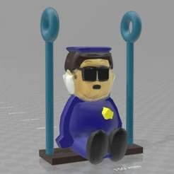 Download free 3D printing designs South Park officer barbrady swing set / for car rear window mount, syzguru11