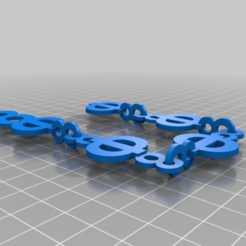 Download free 3D printing designs letters chain gang, syzguru11