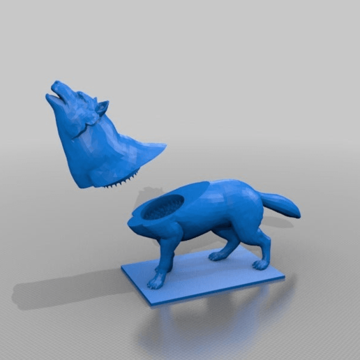 Download free STL file wolf reiber grinder - turn the wolfes neck, grind the herbs, syzguru11