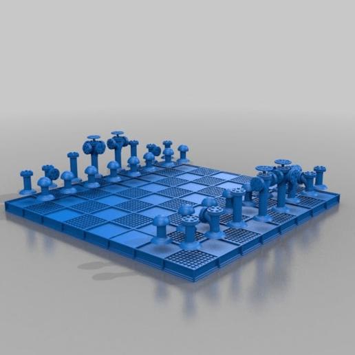 Télécharger fichier 3D gratuit ROHR-SCHACH / Tuyau d'échiquier, syzguru11