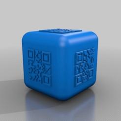 Download free 3D printing designs qr code dice smooth, syzguru11