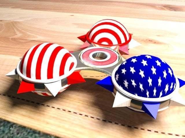 spinnerstripes4thjuly.jpg Télécharger fichier STL gratuit Tourniquet • Modèle pour impression 3D, syzguru11