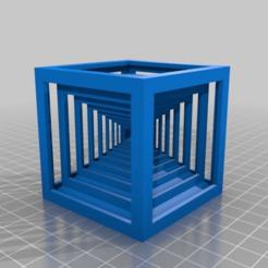 Télécharger fichier imprimante 3D gratuit cube dans cube sur pyramide, syzguru11