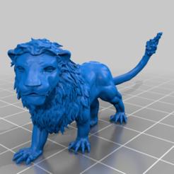Descargar archivos 3D gratis león, syzguru11