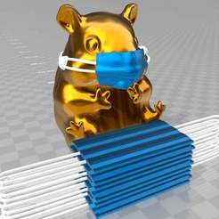 der-masken-hamster.jpg Télécharger fichier 3MF gratuit der Masken Hamster - un nouveau spécimen peu glorieux • Design pour imprimante 3D, syzguru11