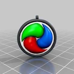 Download free 3D printer designs pedant yung ying yang, syzguru11