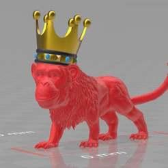 monkeylionking.jpg Télécharger fichier 3MF gratuit monkeylionking .der könig der thiere • Design pour imprimante 3D, syzguru11