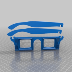 Download free 3D printing templates retro TV sunglasses, syzguru11
