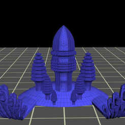 Télécharger fichier 3D gratuit Structure de style cambodgien inspirée d'Angkor Vat, syzguru11