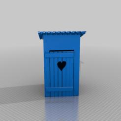 Télécharger fichier 3D gratuit toilettes à l'ancienne / plumpsklo, syzguru11