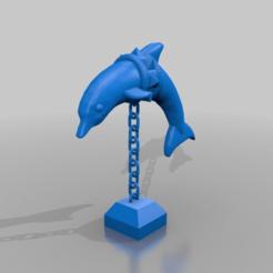 Télécharger fichier STL gratuit dauphin en chaînes pour aquarium • Plan imprimable en 3D, syzguru11