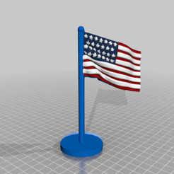 flaggg.jpg Download free STL file stars and stripes flag set 4th july • 3D print model, syzguru11