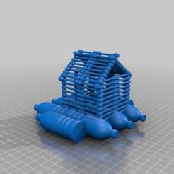 Télécharger objet 3D gratuit maison flottante en plastique pour les ordures, coton-tige, l'imprimer, la jeter, syzguru11