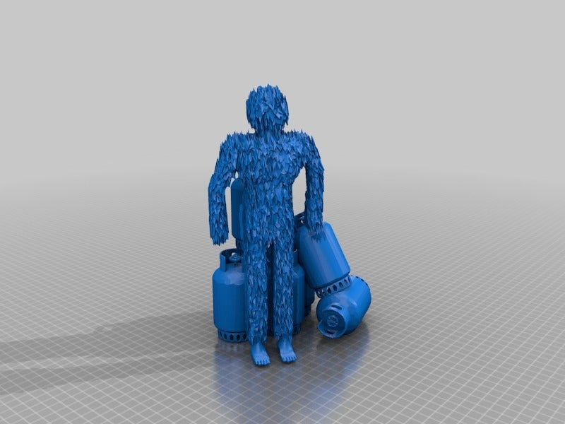 1f3e0297a8d04a20a99bf4e21286e65d.png Download free STL file yeti and his stolen gas containers • 3D printable design, syzguru11