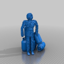Download free 3D printing files yeti and his stolen gas containers, syzguru11