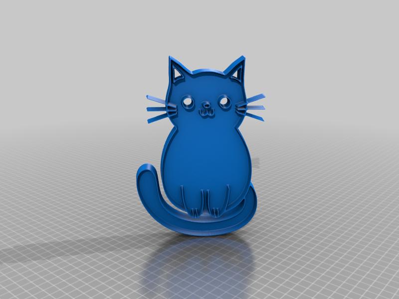 catt1v.png Télécharger fichier STL gratuit chat • Modèle pour impression 3D, syzguru11