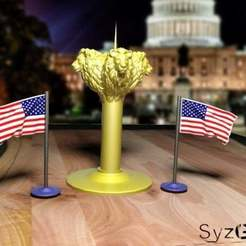 Download free 3D printing designs candlestick lion, syzguru11