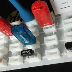 Télécharger STL gratuit clé USB - porte-stylo USB, syzguru11
