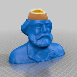 Download free 3D printer designs egg cup Karl Marx  -enjoy, syzguru11