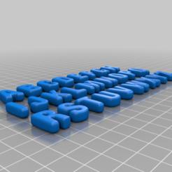 Télécharger plan imprimante 3D gatuit triage des lettres bien rondes, syzguru11