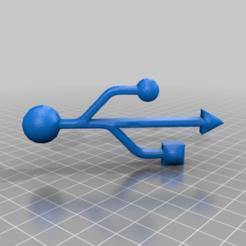 Imprimir en 3D gratis símbolo usb, syzguru11