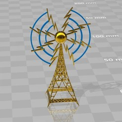 radiotower-broadcast1.jpg Download STL file Radiotower broadcasting • 3D printable template, syzguru11
