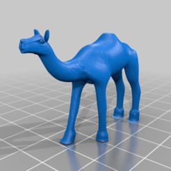 Download free 3D printing templates camel, syzguru11