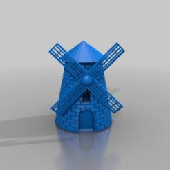 Descargar modelos 3D gratis molino de viento, syzguru11