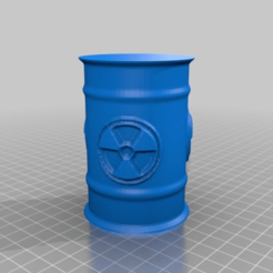 Descargar Modelos 3D para imprimir gratis Barril de residuos radiactivos, syzguru11
