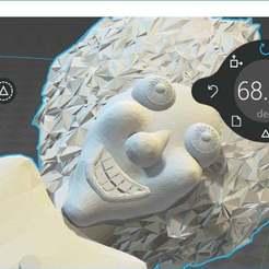 Télécharger objet 3D gratuit robo chicken - porte-clés de la tête du scientifique fou, syzguru11