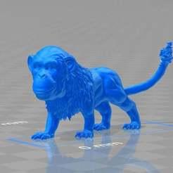 monkeylion.jpg Télécharger fichier STL gratuit le singe-lion rugissant - ankank • Design à imprimer en 3D, syzguru11