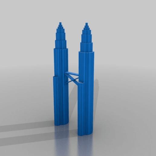 Télécharger fichier STL gratuit les tours de petronas debout • Plan pour imprimante 3D, syzguru11