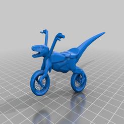 Imprimir en 3D gratis La moto conceptual Raptor V2.2 es un divertido dino chopper..., syzguru11