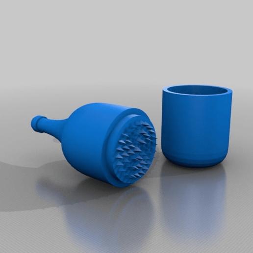 Télécharger fichier STL gratuit bouteille - moulin à épices à base de mauvaises herbes • Design à imprimer en 3D, syzguru11