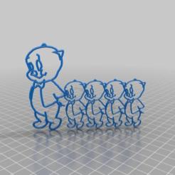 Descargar modelos 3D gratis Porky y sus cerditos, era un cerdito muy perezoso que quería construir su casa de paja, syzguru11