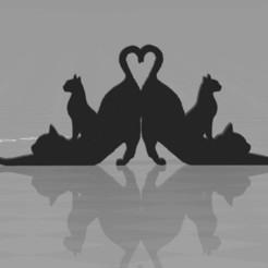 catsornament.jpg Download free STL file cats ornament • 3D printing design, syzguru11