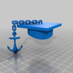 Download free 3D printing designs brothers united zetha Kappa Epsilon -  sponsion hat anchor, syzguru11