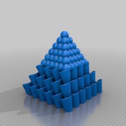 Télécharger fichier 3D gratuit Pyramide de Moebius avec des sphères au sommet.., syzguru11