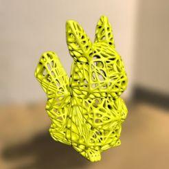 pikapika.jpg Télécharger fichier 3MF gratuit voronoi Pikachu • Modèle pour imprimante 3D, syzguru11