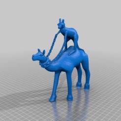 Download free 3D printer designs kangaroo riding camel, syzguru11