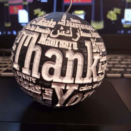 Download free 3D printer files thank you  ball, syzguru11